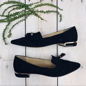 Vince Camuto Shoes - Vince Camuto | Black Suede Tassel Mules